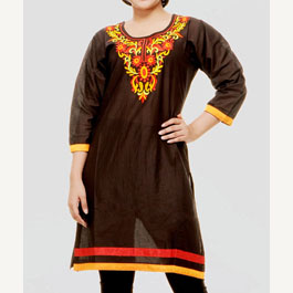 Embroidered Black Kurti