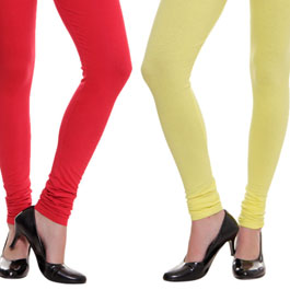 Supreme Quality Red-Yellow Leggings